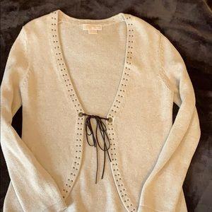 Michael Kors sweater cardigan- oatmeal color- sz M